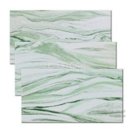 Влагостойкий гибкий камень Изумруд 1 светло-зеленого цвета. Нарезка на плитку