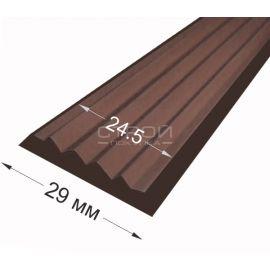 Вставка в алюминиевый профиль 29 х 5,8 мм темно-коричневого цвета.
