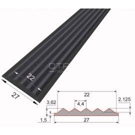 Черная резиновая вставка для профиля, 27х4 мм - подходит для алюминиевой полосу АП40 или алюминиевого угол-порога 38х5,х20 мм.