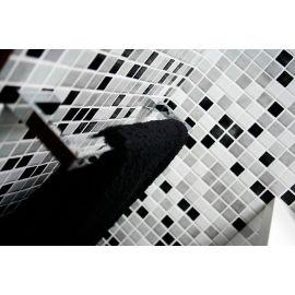 Мозаика Mix 25008-D серая в интерьере ванной комнаты.