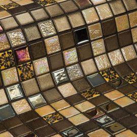 Almonds коллекция мозаики Topping — коричневый микс