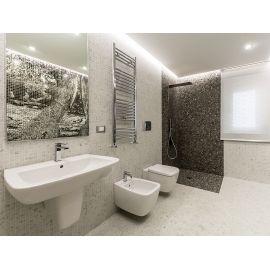 Мозаика Zen Carrara в интерьере ванной комнаты.