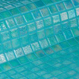 Мозаика Iris Coral - бирюзово-зелёная