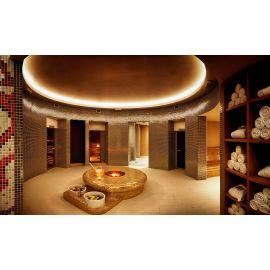 Мозаика Iris Cuarzo в интерьере банного комплекса