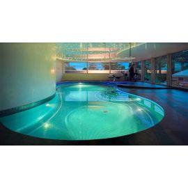Глянцевая мозаика Esmeralda Metal зеленого цвета производства Ezarri для отделки бассейна.