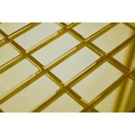 Золотая зеркальная мозаика G42 на сетке.