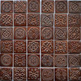Керамическая мозаика KG4801 Melian коричневая