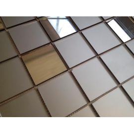 LB50 бронзовая матовая зеркальная мозаика Perla