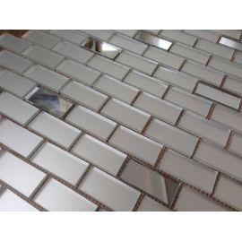 МS42‐2 Серебряная матовая мозаика на сетке.