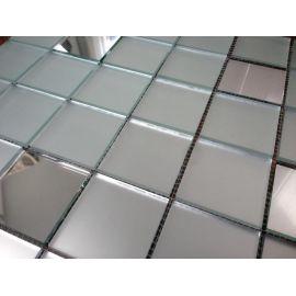 МS50 матовая зеркальная мозаика Perla (серебро 17%, матовое серебро 83%)