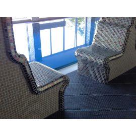 Глянцевая мозаика Oxido Metal металлического цвета завода Ezarri  удивительна в любом интерьере.
