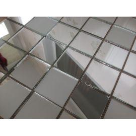 SМ50 матовая зеркальная мозаика Perla (серебро 83%, матовое серебро 17%)
