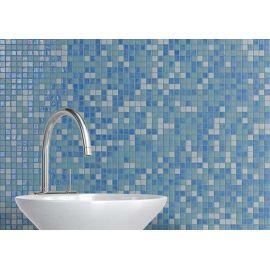 Мозаика Sky Mix Iris использована при отделке ванной