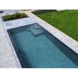 Мозаика Zen Tigrato - укладка в бассейне.
