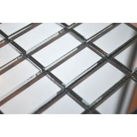 Серебряная мозаика S42 на сетке.