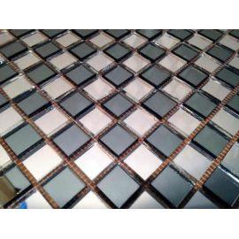 Зеркальная серо-серебряная мозаика  SD20-5 Deco