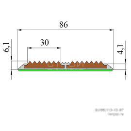 АП86-Премиум полоса противоскольжения с двумя противоскользящими вставками