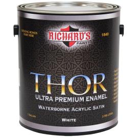 Акриловая эмаль премиум класса Thor Satin - универсальная быстросохнущая блокирующая пятна грунтовка для внутренних и наружных работ