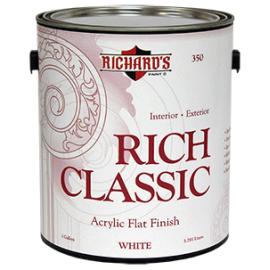 Краска Rich Classic Flat универсальная акриловая для внутренних и наружных работ. 350 Rich Classic Interior/Exterior Acrylic Paint