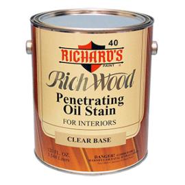Алкидная масло-пропитка для внутренних работ Rich Wood 40 Penetrating Oil Wood Stain