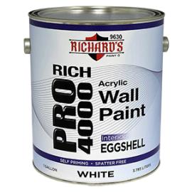 Акрило-латексная краска для внутренних работ Rich Pro 4000 Eggshell (яичная скорлупа).