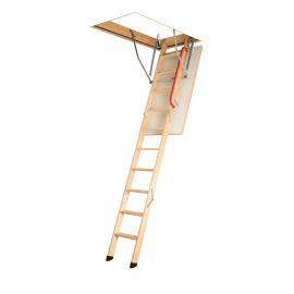 Трехсекционная лестница Fakro LWK Plus с утепленным люком и поручнем для удобного спуска и подъема.
