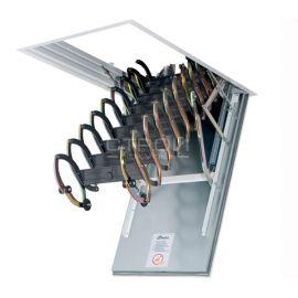 Металлический механизм лестницы Fakro LSF ножничного типа.
