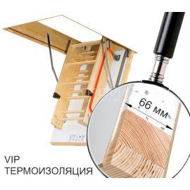 Чердачная лестница Fakro LTK с термоизолярованным люком для использования в помещениях с значительным перепадом температур.