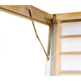 Механизм трехсегментной чердачной лестницы Fakro LTK с люком повышенной теплоизоляции.