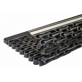 Придверная решетка Волна супер 615х394 мм из резинового профиля усилена элементами из прочного композитного материала