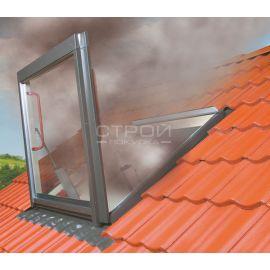 Быстрое дымоудаление при пожаре при использовании системы дымоудаления FSP  Fakro.