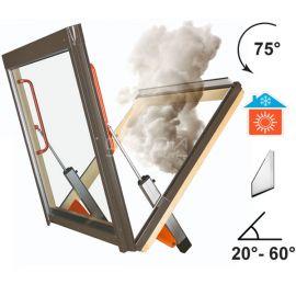 Окно - система дымоудаления FSP  Fakro сертифицированное решение защиты от задымления в помещении.