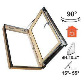 Универсальное распашное окно FWP U3  с боковым  открыванием на угол до 90° для теплых помещений.
