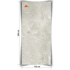 Светло-серый гибкий мрамор Луна CL  284х142 см для интерьеров и фасадов.