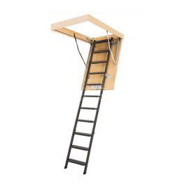 Чердачная металлическая лестница LMS в разложенном виде.