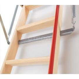 Подъёмный механизм чердачной лестницы с повышенной теплоизоляцией.