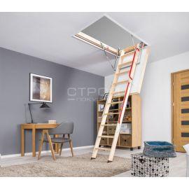 Fakro LWL Extra чердачная лестница с повышенной герметичностью в интерьере.