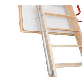 Элемент для облегчения подъема сегментов чердачной лестницы с повышенной теплоизоляцией.