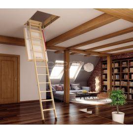 Fakro LWT Thermo - чердачная лестница обеспечивающая минимальные теплопотери при толщине люка 80 мм.