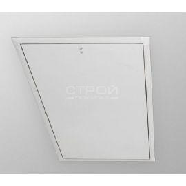Внешний вид декоративной планки LXL-PVC  установленная в чердачном проеме с закрытым люком.