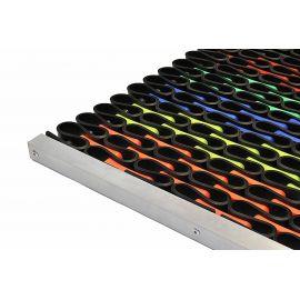 Придверная решетка Волна супер цветная 61,5х39,4 см из резинового профиля усилена элементами из прочного композитного материала