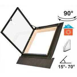 Окно люк для выхода на крышу WLI открывается на 90°  влево или вправо.