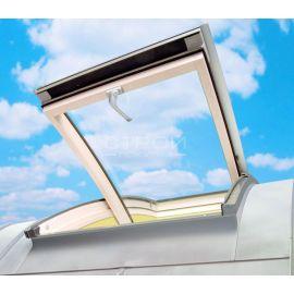 Дуговое окно FCS для освещения и проветривания чердачного помещения с дугообразной крышей.