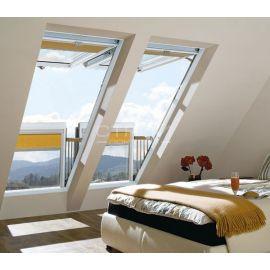 Красивый интерьер с открытым окном балконом трансформер FGH-V.