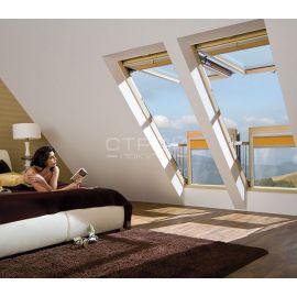 Отличный панорамный вид с открытым окном балконом трансформер FGH-V.
