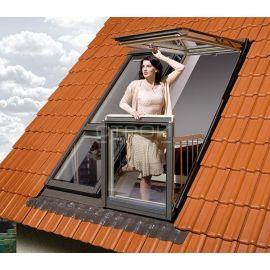 Отличная визуализация человека на окне балконе трансформере FGH-V за счет стеклянной стенки.
