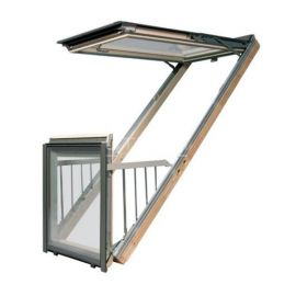 Конструктив окна балкона трансформера FGH-V.