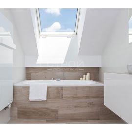 Отличное освещение и теплоизоляция в ванне с помощью мансардных окон PTP U3/PTP-V U3.