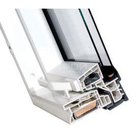 Примыкание профиля створки к раме мансардного окна PTP U3/PTP-V U3.
