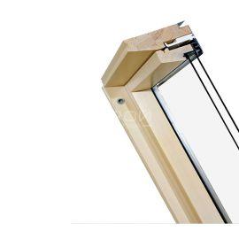 Двухкамерный энергосберегающий морозостойкий стеклопакет FTP-V U2 из высококачественной древесины сосны без сучков, пропитанной антисептиком в вакуумной камере.